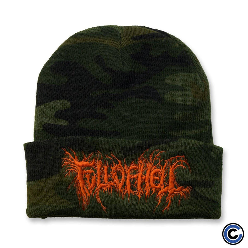 "Full Of Hell ""Insect Logo"" Camo Beanie"