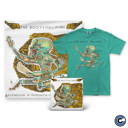 "The Body & Full of Hell ""Ascending A Mountain of Heavy Light"" LP + Shirt + Flag Bundle"