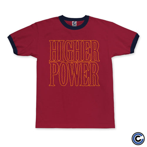 "Higher Power ""Outline Logo"" Ringer Tee"