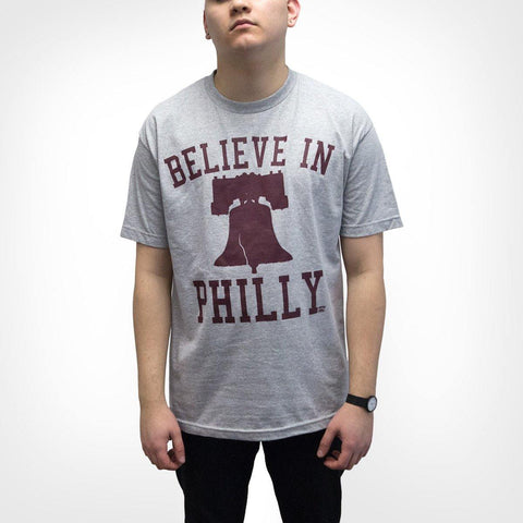 "Libertee Apparel ""Believe in Philly"" Ath. Heather/Maroon Shirt"