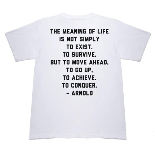 Lifter - Arnold White T-Shirt