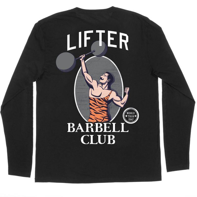 "Buy – Lifter ""Barbell Club"" Long Sleeve – Band & Music Merch – Cold Cuts Merch"