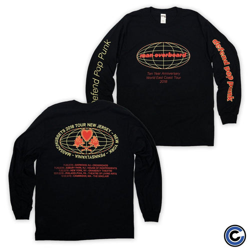 "Buy – Man Overboard ""Globe Tour"" Long Sleeve – Band & Music Merch – Cold Cuts Merch"