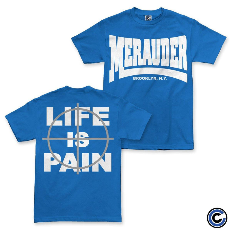 "Merauder ""Life Is Pain"" Royal Shirt"