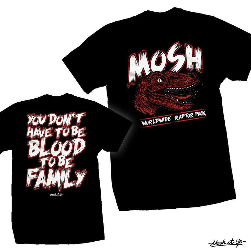 "Buy – Mosh It Up ""Worldwide Raptor Pack"" Tee – Band & Music Merch – Cold Cuts Merch"