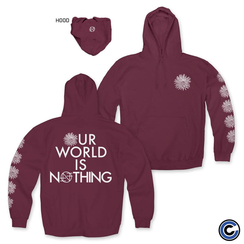 "Nothing ""Our World Is Nothing Flower"" Maroon Hoodie"