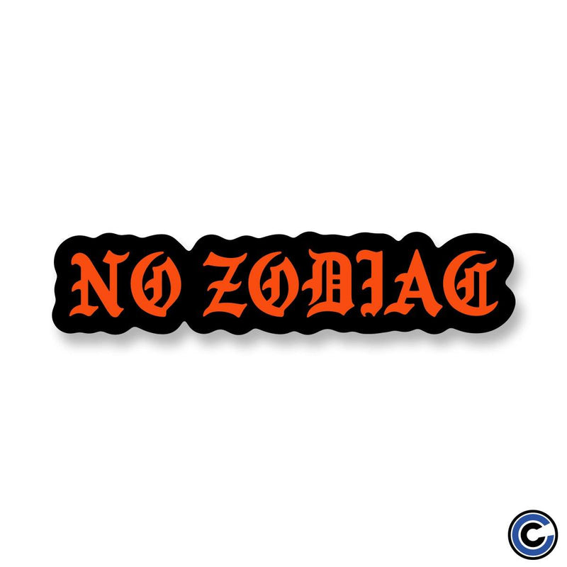 "No Zodiac ""Blackletter"" Sticker"