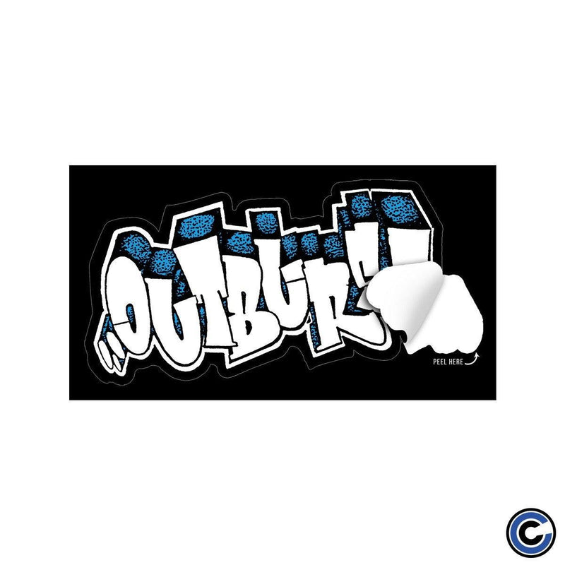 "Buy Now – Outburst ""Bubble Logo"" Sticker – Cold Cuts Merch"