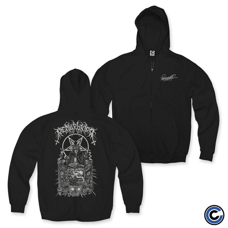 "Perturbator ""Business With Satan"" Zip Up Hoodie"