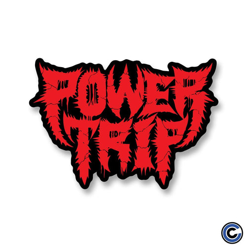 "Power Trip ""Spikey Logo"" Die Cut Sticker"