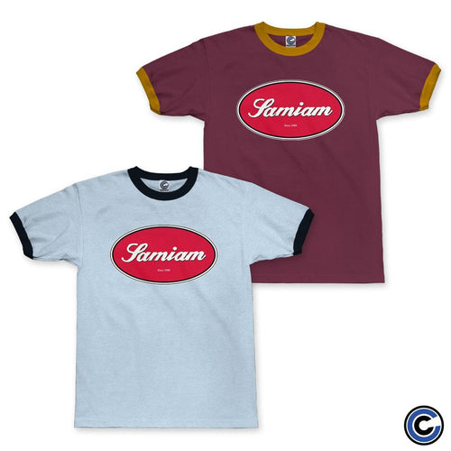 "Buy Now – Samiam ""Oval"" Ringer Tee – Cold Cuts Merch"
