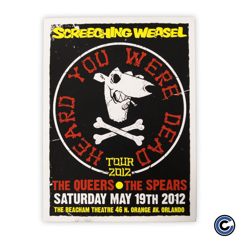 "Screeching Weasel ""Cross Bones"" Poster"