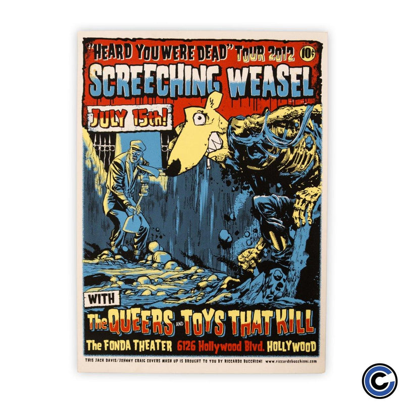 "Screeching Weasel ""Grave Digger"" Poster"