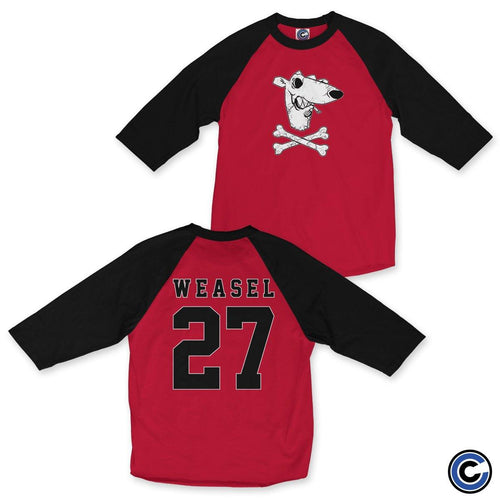 "Screeching Weasel ""Cross"" Raglan"
