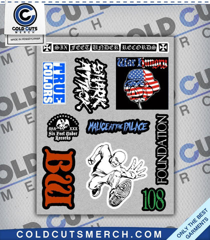 Six Feet Under Sticker Sheet