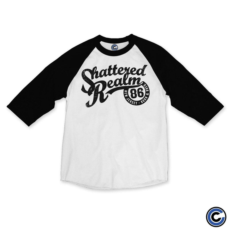 "Buy – Shattered Realm ""Born and Bred"" Raglan – Band & Music Merch – Cold Cuts Merch"
