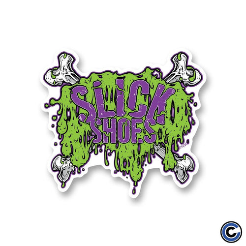 "Slick Shoes ""Slimey Crossbones"" Sticker"