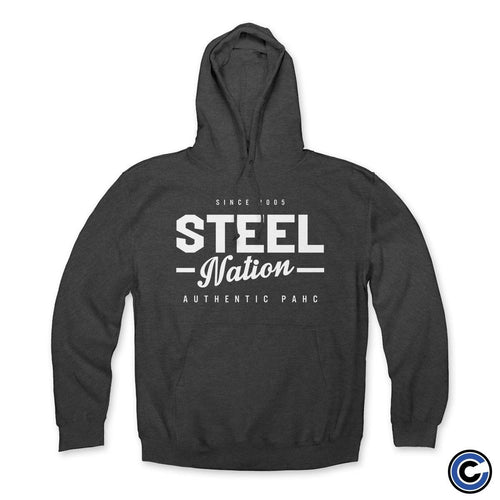 "Buy – Steel Nation ""Authentic Hardcore"" Hoodie – Band & Music Merch – Cold Cuts Merch"