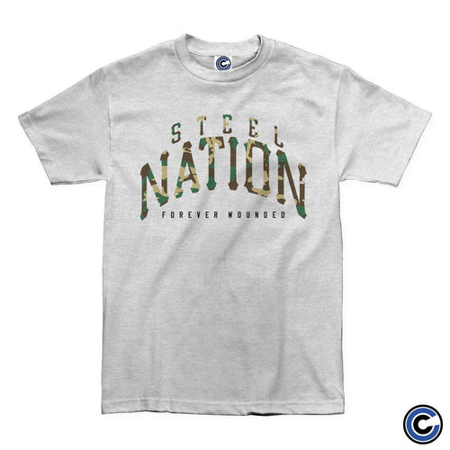 "Buy – Steel Nation ""Camo"" Shirt – Band & Music Merch – Cold Cuts Merch"