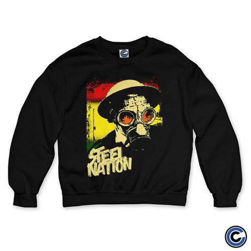 "Buy – Steel Nation ""Gas Mask"" Crewneck – Band & Music Merch – Cold Cuts Merch"