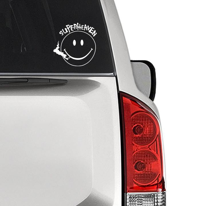 "Superheaven ""Smiley Face"" Cut Vinyl Decal"
