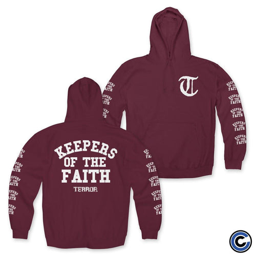 "Terror ""Keepers Of The Faith"" Maroon Hoodie"