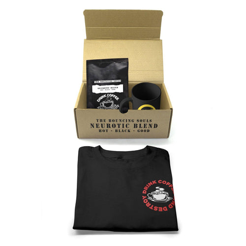 "The Bouncing Souls"" Drink Coffee & Destroy"" Coffee Pack. ft. Bouncing Souls Neurotic Blend Coffee"