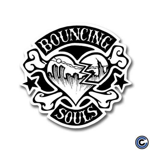 "The Bouncing Souls ""Rocker Heart BW"" Die Cut Sticker"