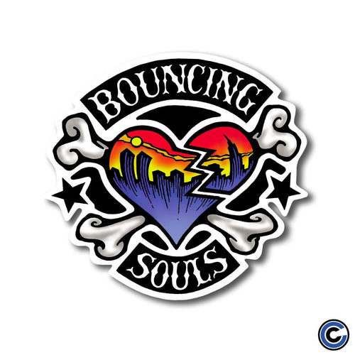 "The Bouncing Souls ""Rocker Heart Color"" Die Cut Sticker"