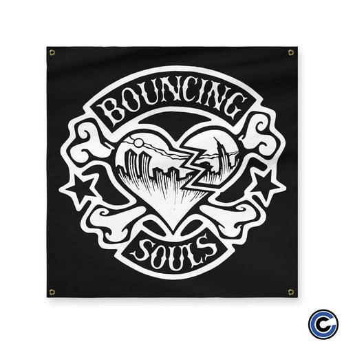 "Buy Now – The Bouncing Souls ""Rocker Heart"" Flag – Cold Cuts Merch"