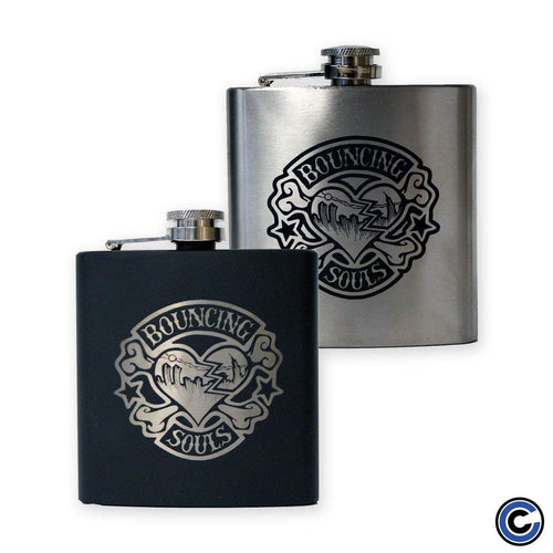 "The Bouncing Souls ""Rocker Heart"" Flask"
