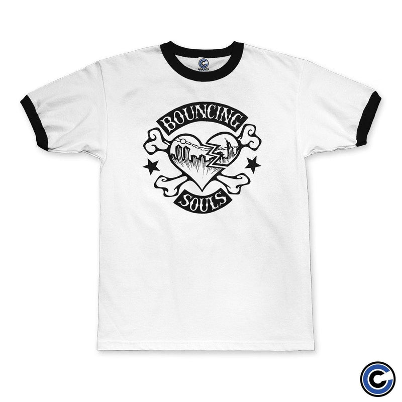 "Buy – The Bouncing Souls ""Rocker Heart"" Ringer Tee – Band & Music Merch – Cold Cuts Merch"