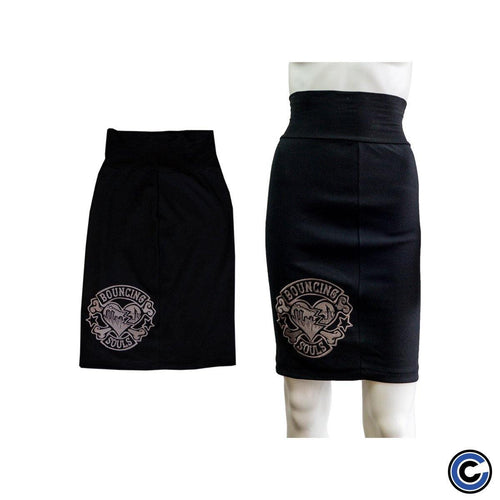"The Bouncing Souls ""Rocker Heart"" Skirt"