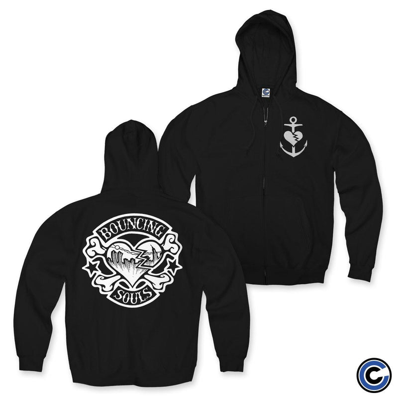 "The Bouncing Souls ""Rocker Heart"" Zip Up Hoodie"