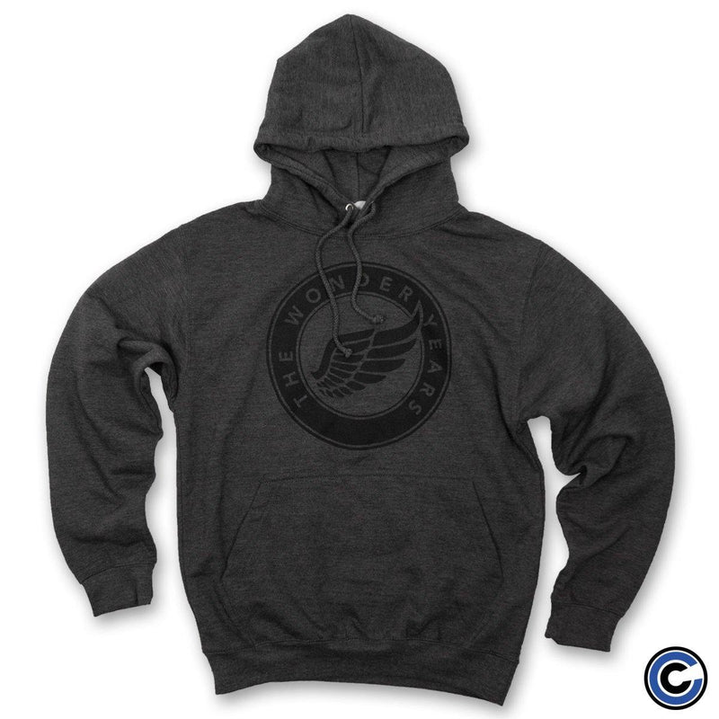 "The Wonder Years ""Wing Circle"" Charcoal Hoodie"