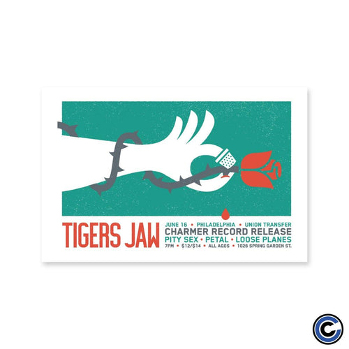 "Buy – Tigers Jaw ""Charmer Record Release"" Poster – Band & Music Merch – Cold Cuts Merch"
