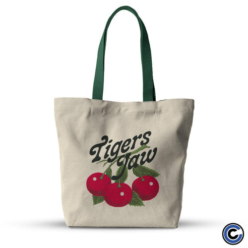 "Buy – Tigers Jaw ""Cherries"" Tote Bag – Band & Music Merch – Cold Cuts Merch"