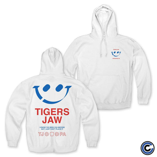 "Buy – Tigers Jaw ""Smiley"" Hoodie – Band & Music Merch – Cold Cuts Merch"
