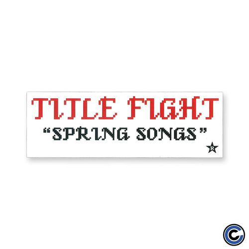 "Title Fight ""Spring Songs"" Sticker"