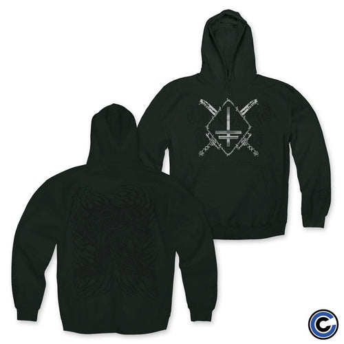 "Twitching Tongues ""Double Devil"" Green Hoodie"