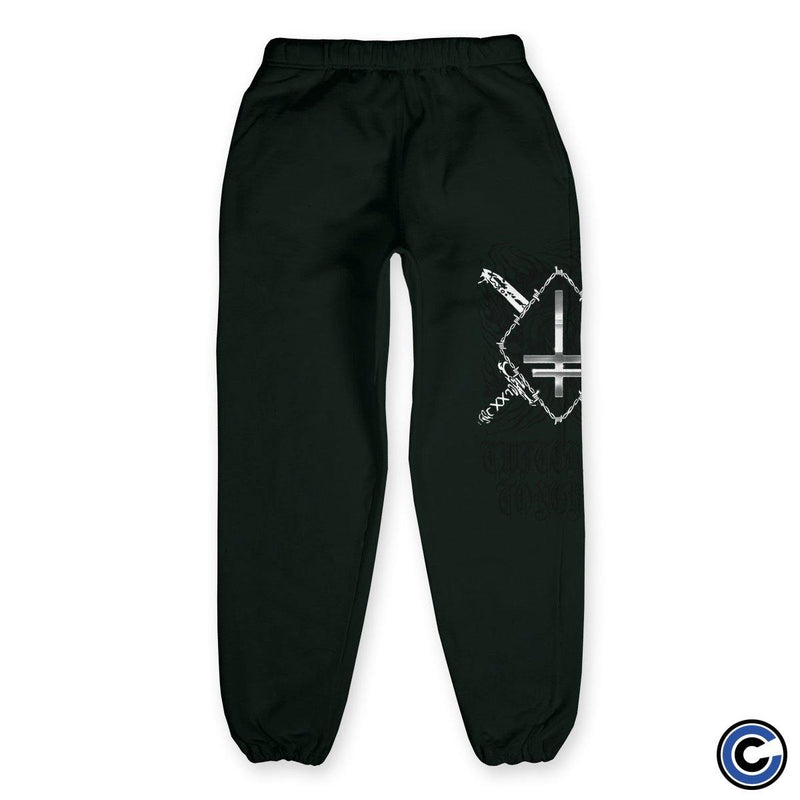 "Twitching Tongues ""Double Devil"" Green Sweatpants"