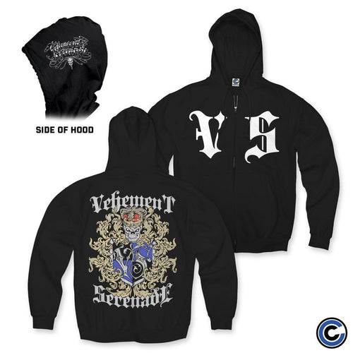 "Vehement Serenade ""Crest"" Zip Up Hoodie"