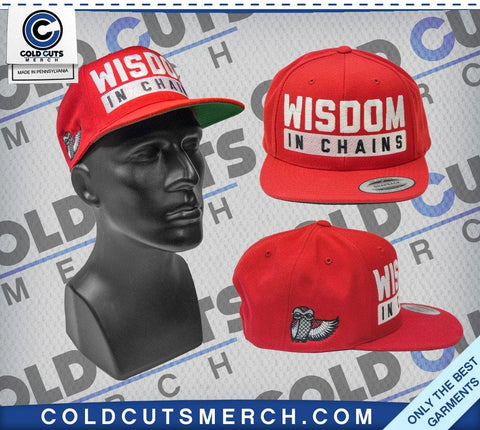 "Wisdom In Chains ""Owl"" Red Snapback"
