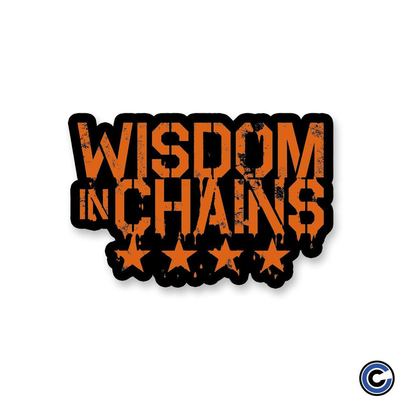 "Wisdom In Chains ""Stars Logo"" Sticker"