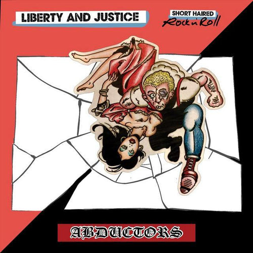 "Buy – Abductors/Liberty and Justice ""Short Haired Rock and Roll"" 7"" – Band & Music Merch – Cold Cuts Merch"