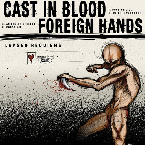 "Buy – Cast in Blood/Foreign Hands ""Lapsed Requiems"" 10"" – Band & Music Merch – Cold Cuts Merch"