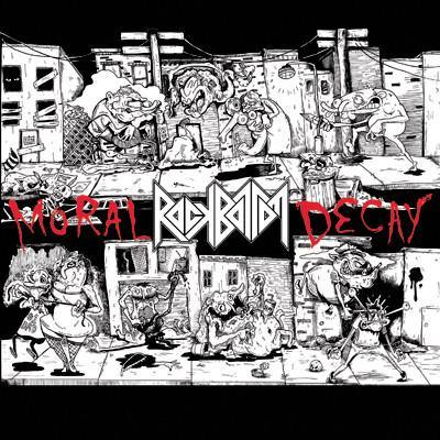 "Buy – Rock Bottom ""Moral Decay"" 7"" + CD – Band & Music Merch – Cold Cuts Merch"