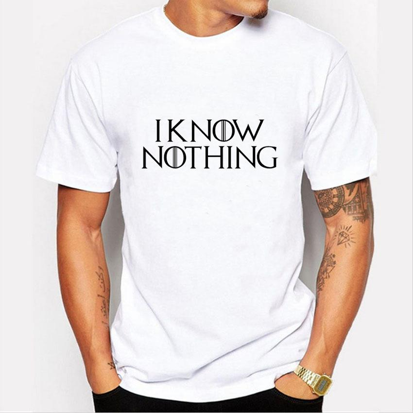 Game of Thrones Spoof Letter I Know Nothing T-shirt