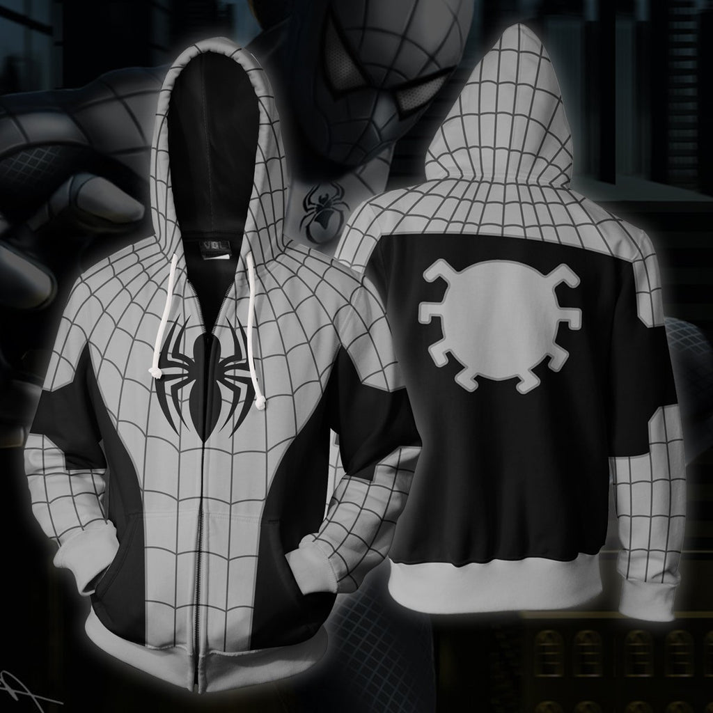 Ultimate Spider-Man 3D Printed Lattice Zip Up Hoodie