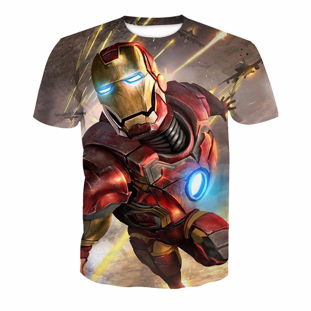Iron Man 3D  Printing T-Shirt